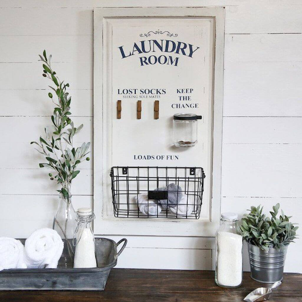 Organizer for Your Farmhouse Laundry Room