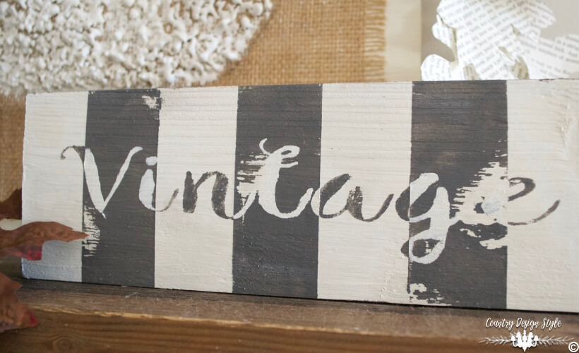 Inside Out Patterned Sign