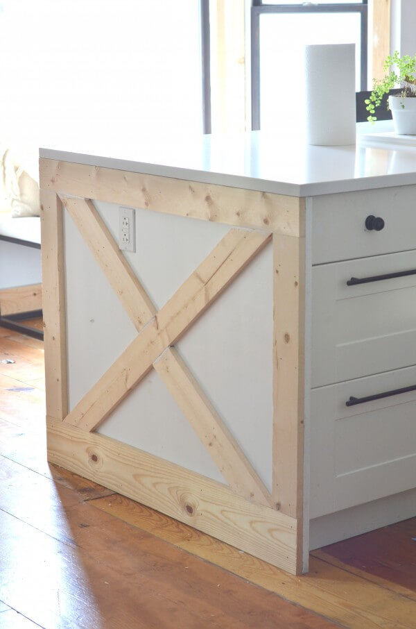 Barn Door Style End Decoration for Cabinets