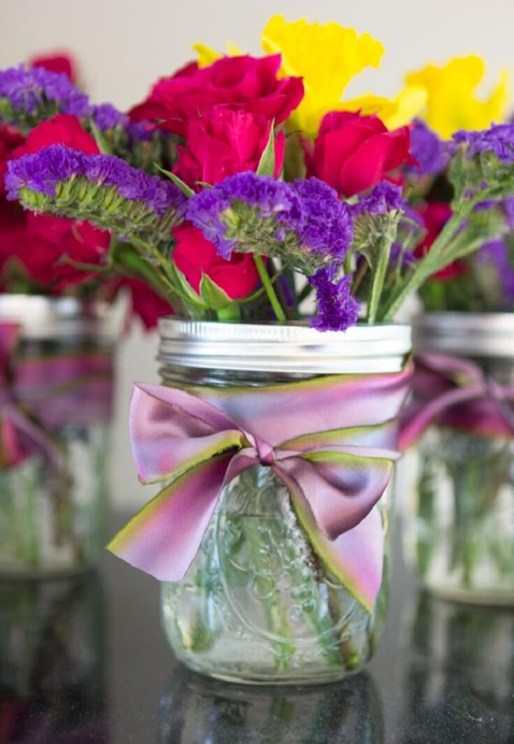 Best diy mason jar flower arrangements ideas and