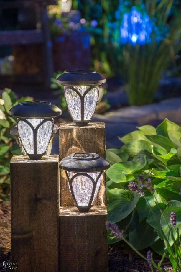 Landscape Lighting Idea with Lanterns