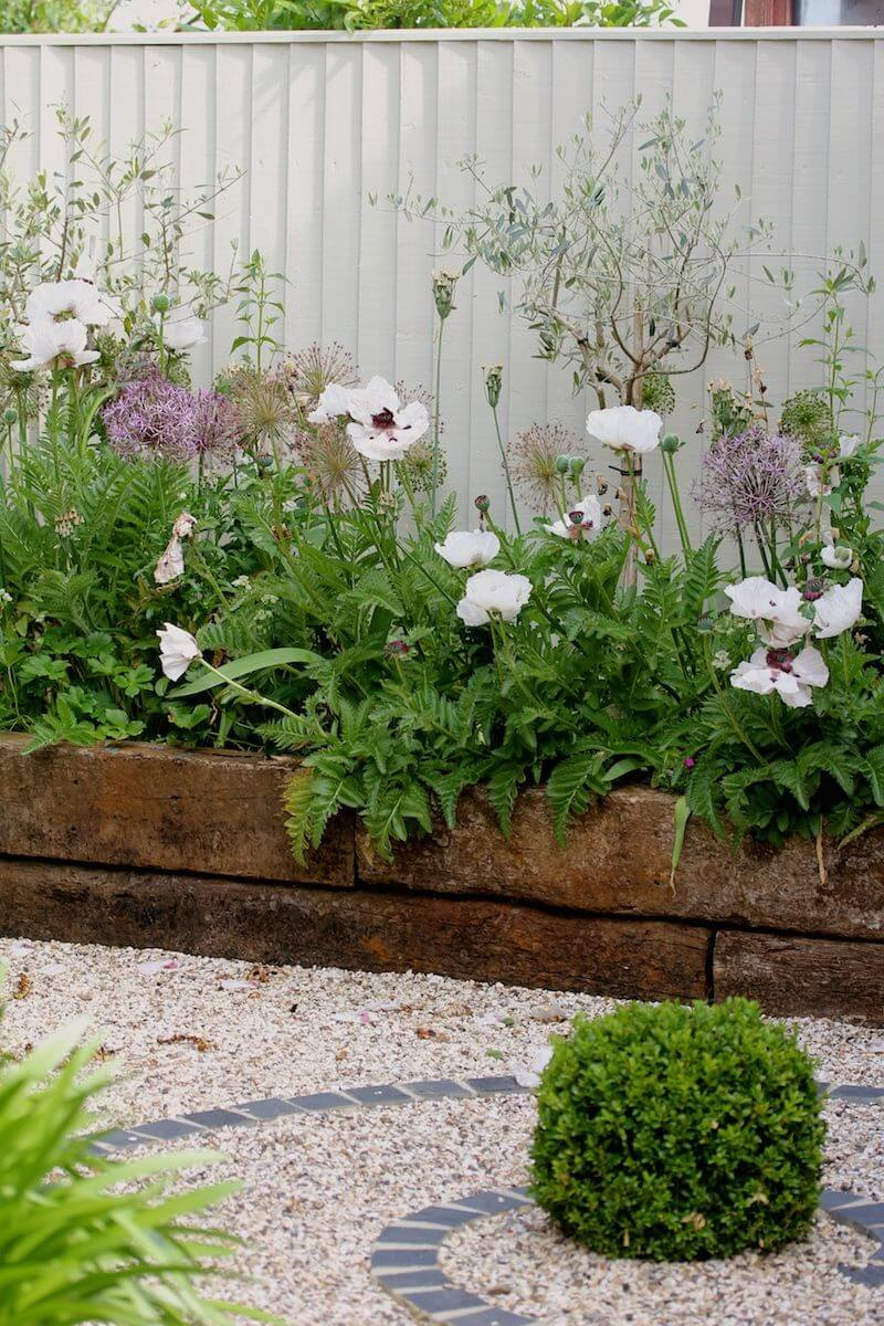 Railroad Tie Raised Garden Edge