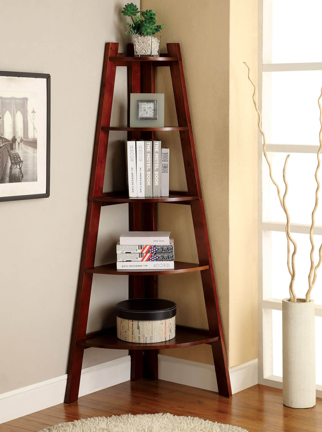 Tall and Graceful A Frame Bookshelf