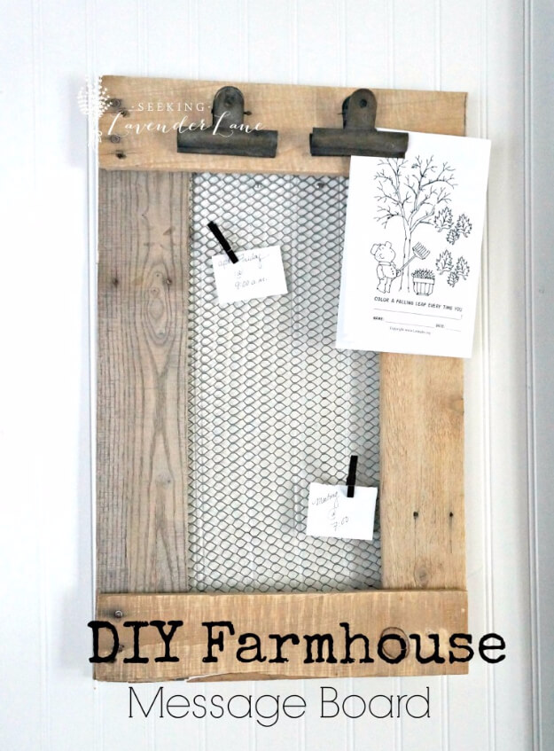 DIY Farmhouse Kitchen Decor Projects for Messages