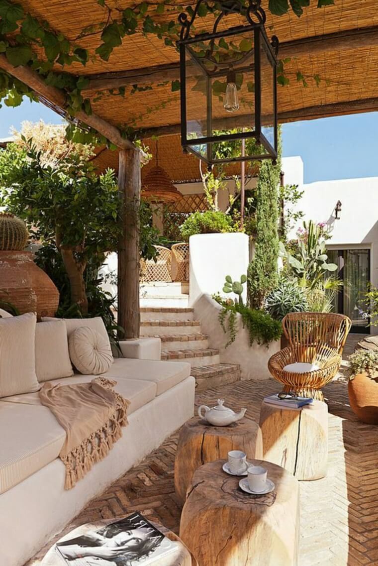 Rustic Southwestern Style Outdoor Living Space