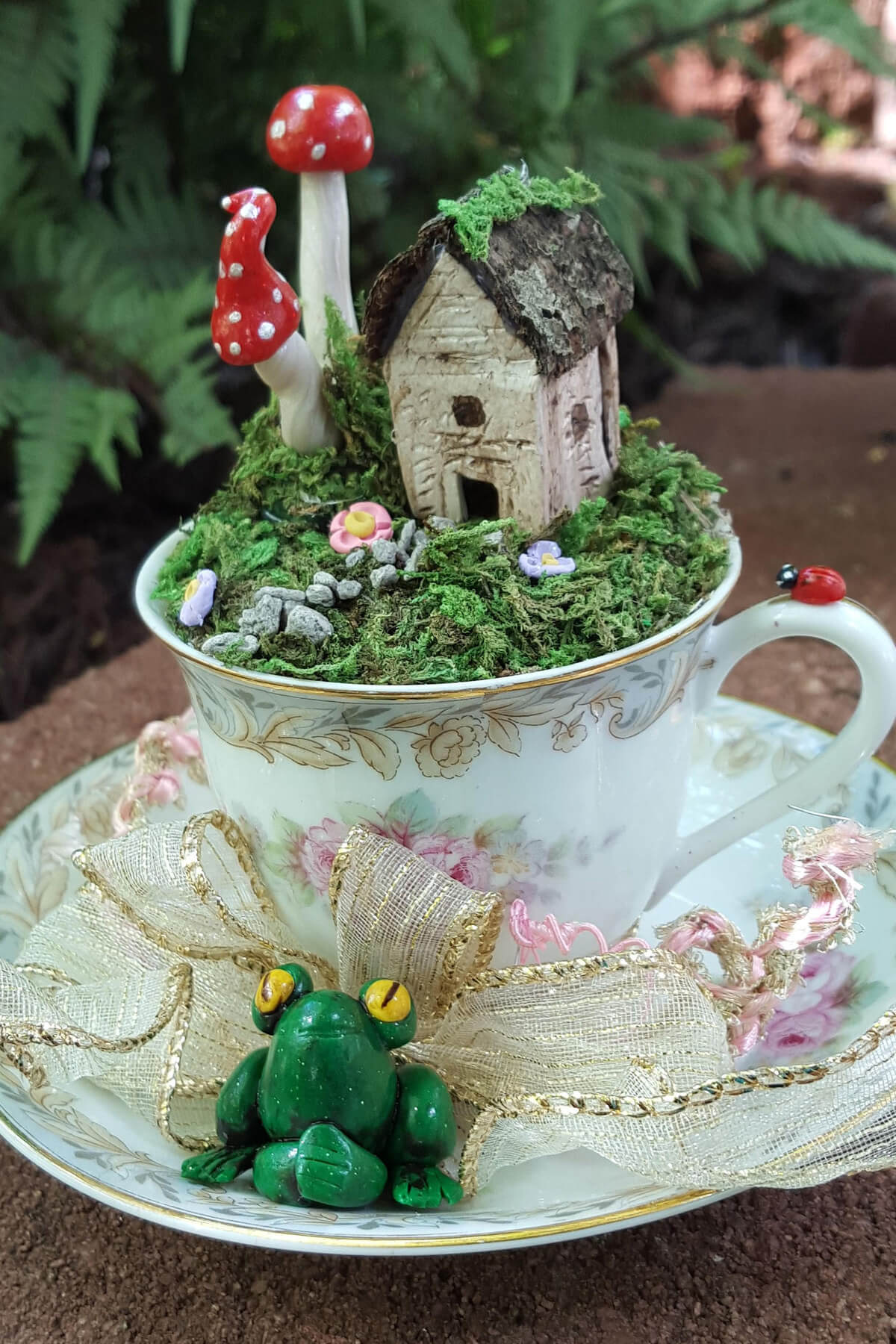 Toadstool Forest, Flower Garden, and Cabin