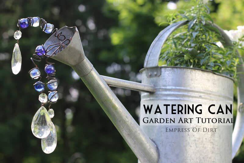Make Your Watering Can Shine with Crystals