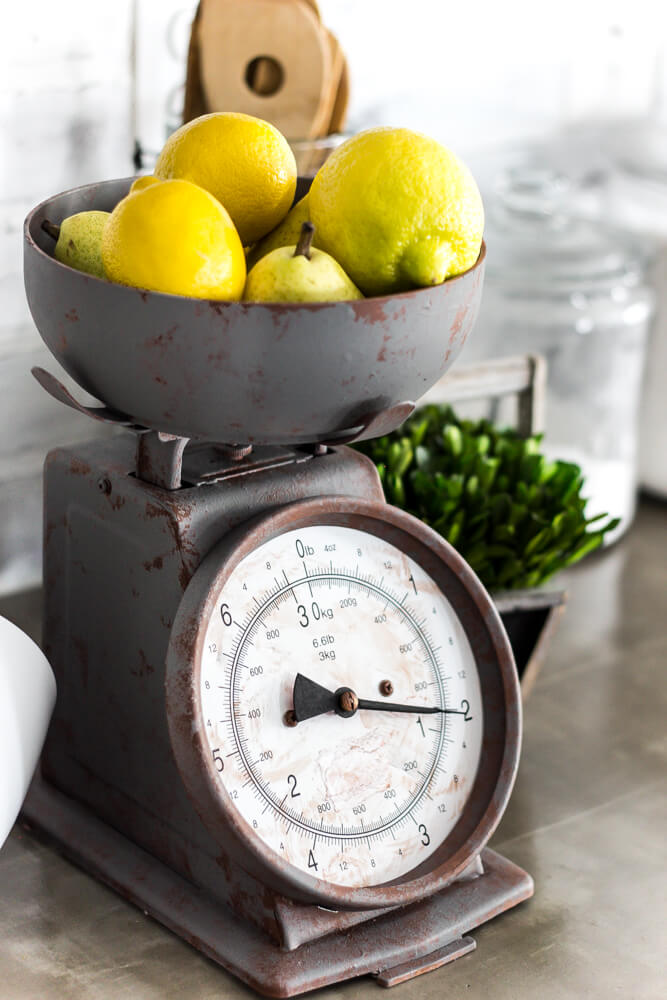 Reclaimed Metal Kitchen Scale for Fruit