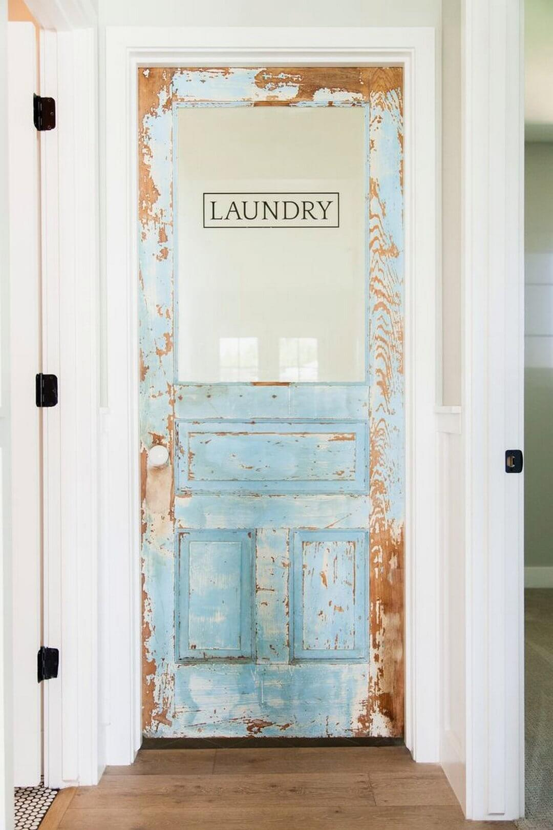 Reclaimed Wood Door for the Laundry Room