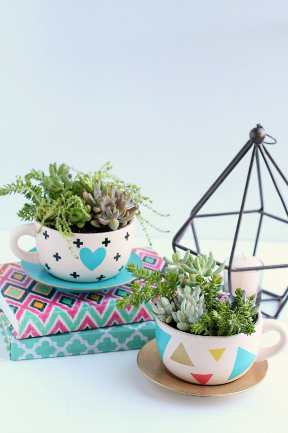 Mismatched Teacups and Tiny Succulents