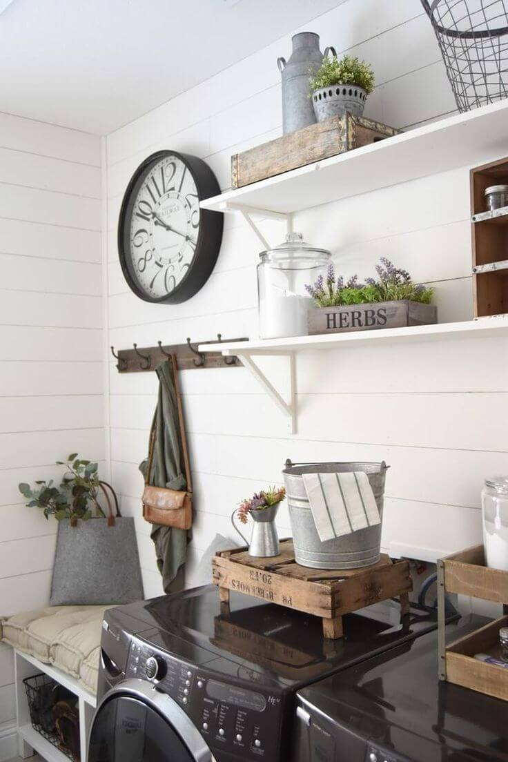 34 Best Farmhouse Laundry Room Decor Ideas And Designs For