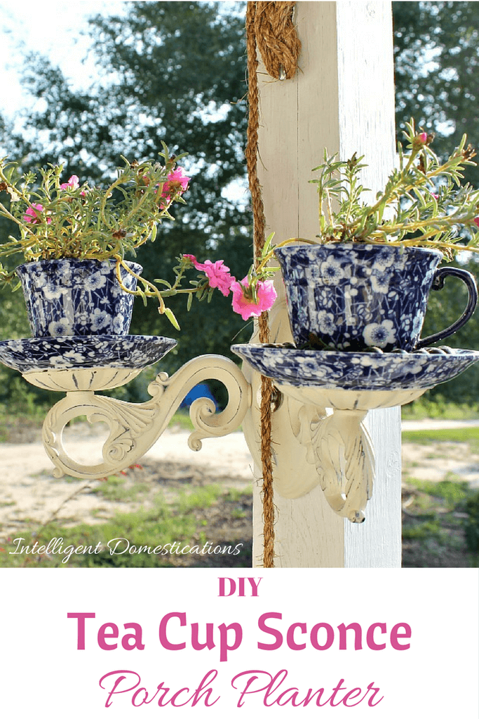 Make Your Own Teacup Sconce Planters