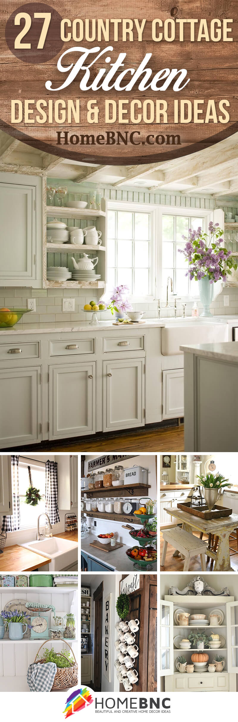 27 best country cottage style kitchen decor ideas and for Cottage style kitchen design