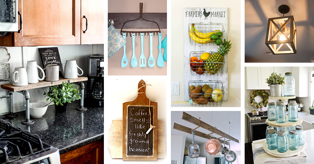 Home Design Ideas Diy: 35+ Best DIY Farmhouse Kitchen Decor Projects And Ideas