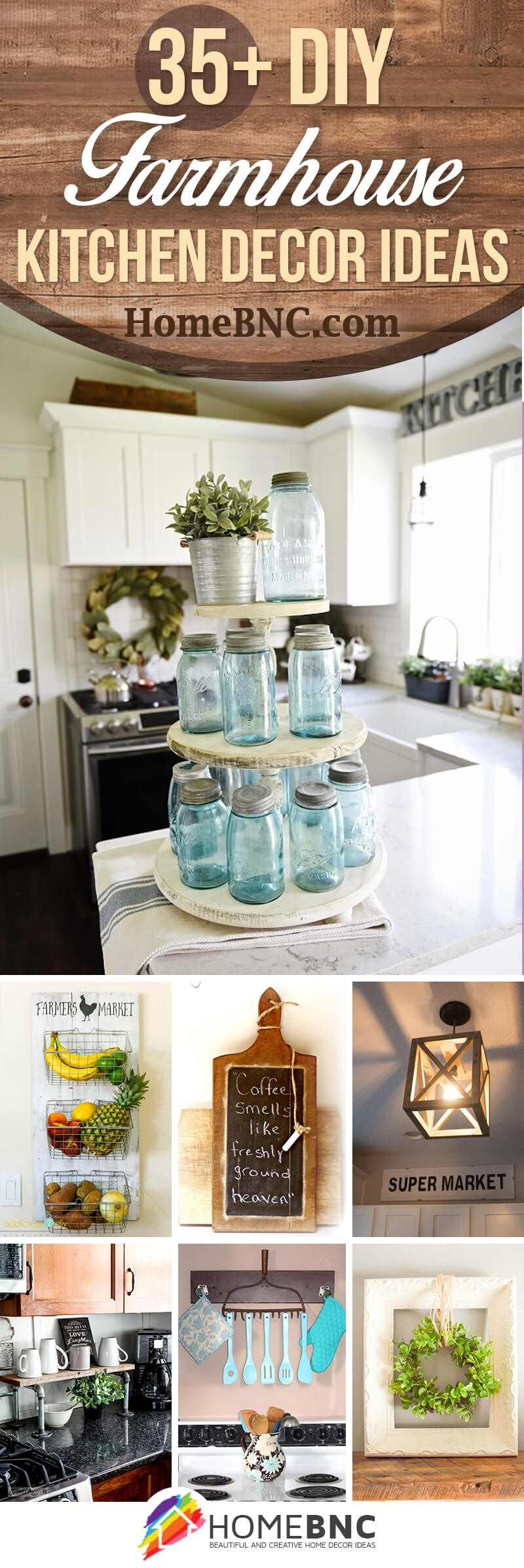 4+ Best DIY Farmhouse Kitchen Decor Projects and Ideas for 4