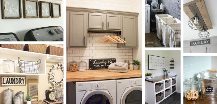 34 Best Farmhouse Laundry Room Decor Ideas And Designs For 2018