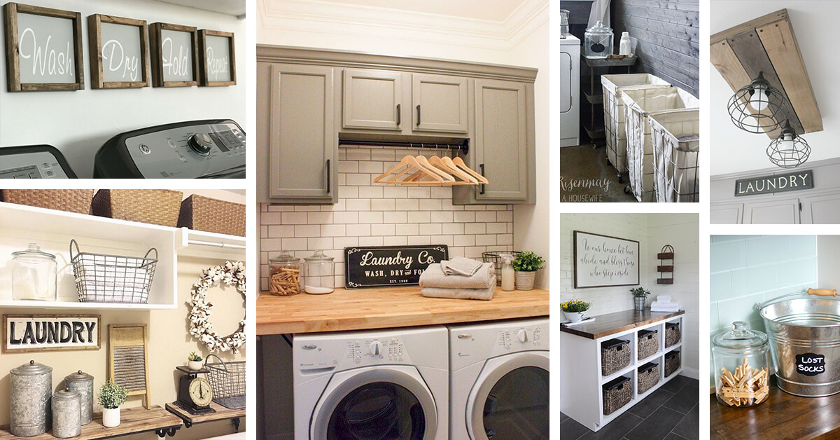 laundry room decor ideas 34 best farmhouse laundry room decor ideas and designs for 11111