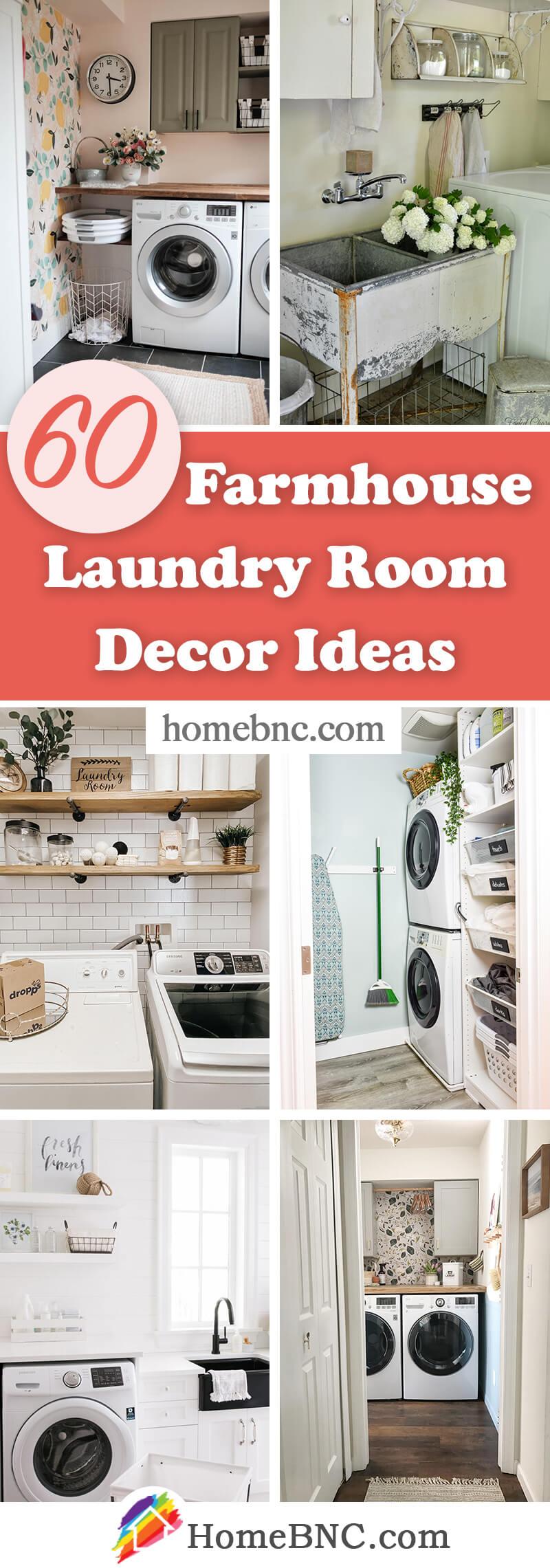 Farmhouse Laundry Room Decorations
