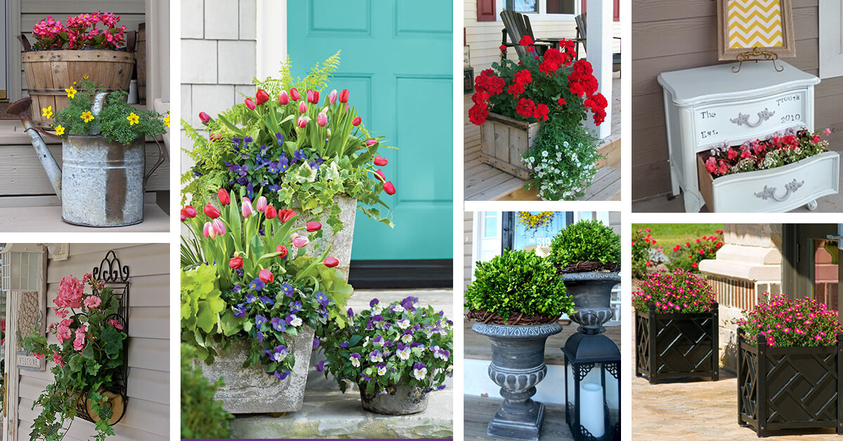 50 Best Porch Planter Ideas And Designs For 2021