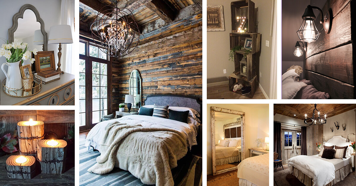 26 best rustic bedroom decor ideas and designs for 2019. Black Bedroom Furniture Sets. Home Design Ideas