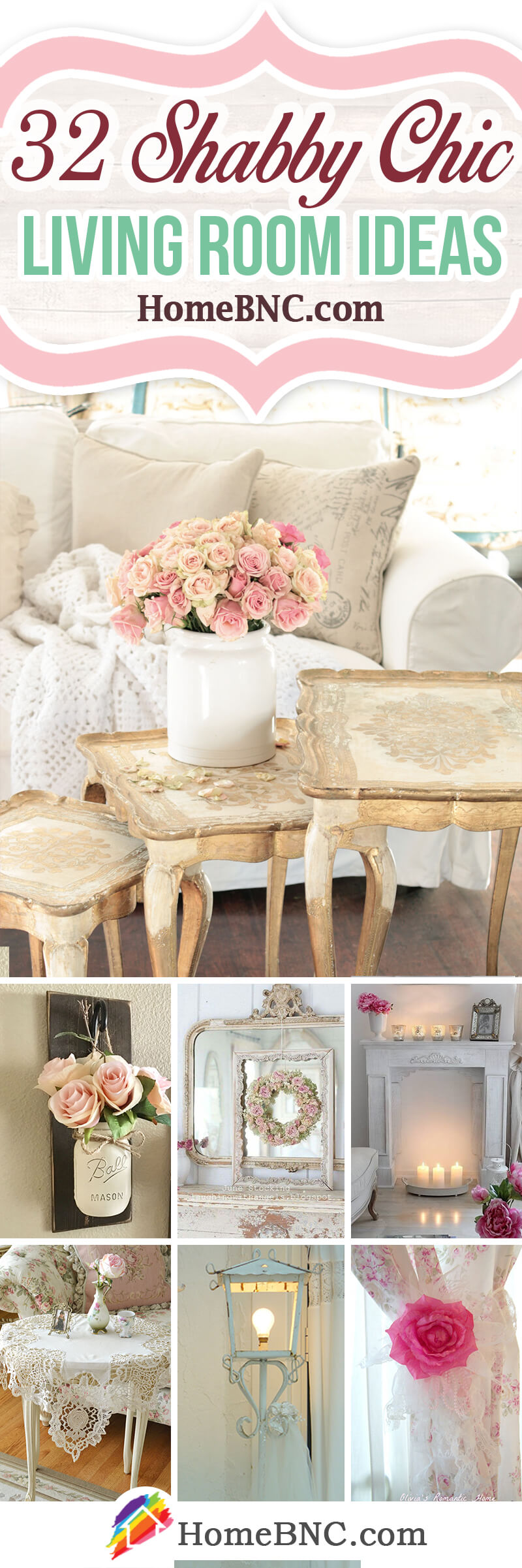 32 best shabby chic living room decor ideas and designs for Chic living room ideas