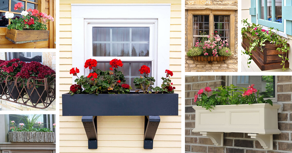26 best window box planter ideas and designs for 2019. Black Bedroom Furniture Sets. Home Design Ideas