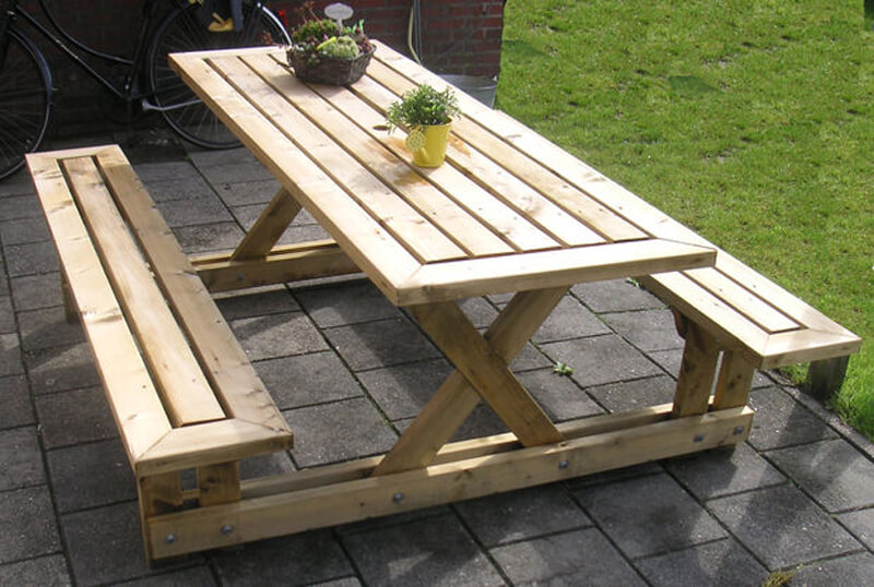 29 best diy outdoor furniture projects ideas and designs for 2019 rh homebnc com  how to make wooden outdoor furniture