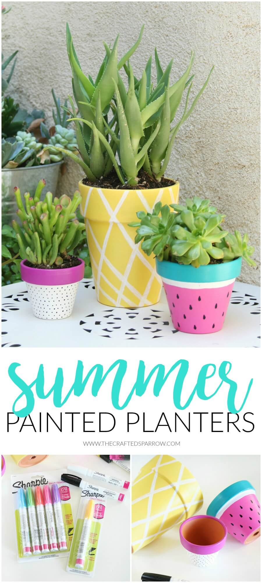 Painted Pots in Fruit and Pastels