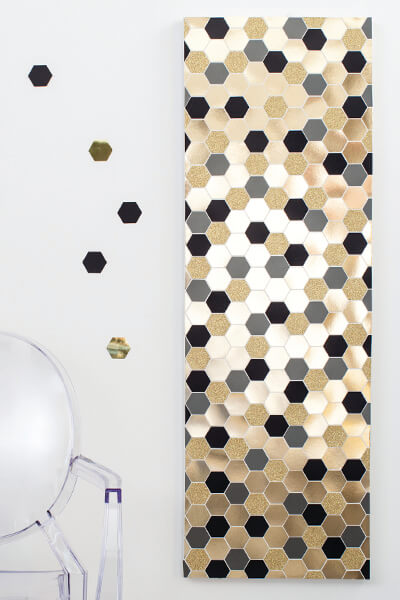 Easy DIY Giant Confetti Mosaic