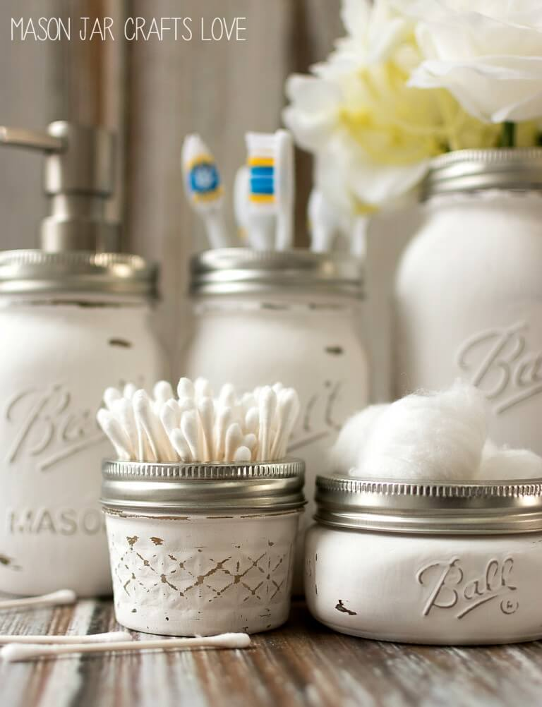 Mason Jar Bathroom Storage Idea