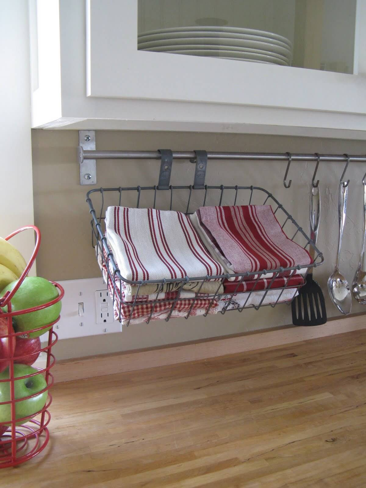 Hang a Rod under Your Cabinets