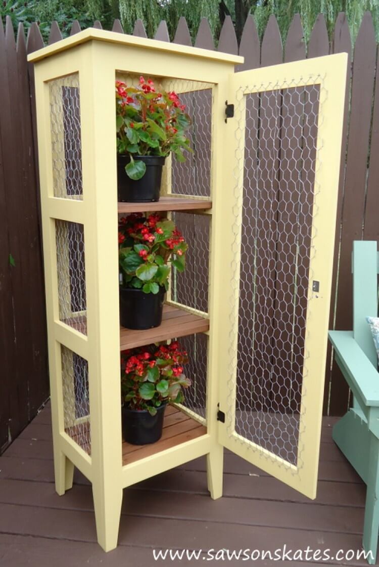 Cover a Cabinet with Chicken Wire