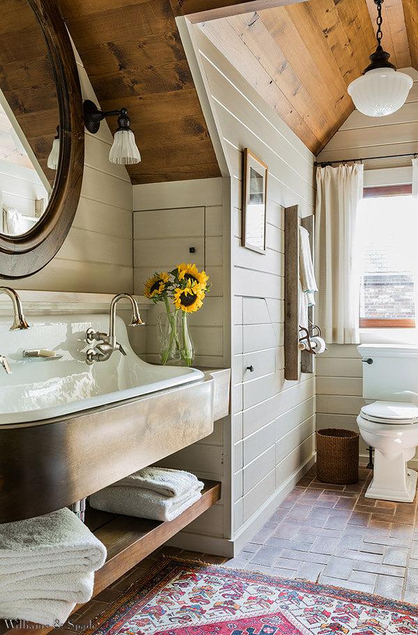 30 wundervolle Badezimmer-Ideen für ein charmantes und entspannendes Ambiente