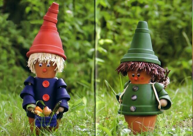 The Wee People Dressed in Colored Pots