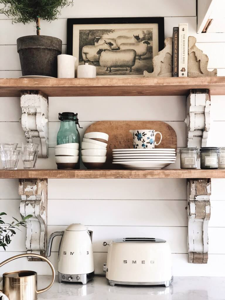 26 Best Farmhouse Shelf Decor Ideas And Designs For 2020