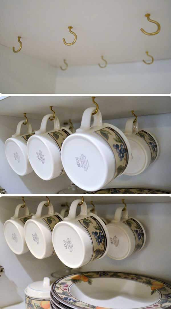 under cabinet coffee mug rack 26 best diy coffee mug holder ideas and projects for 2018 27464