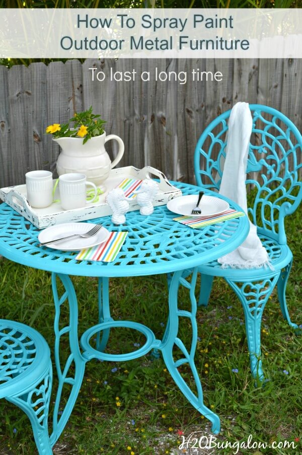 Sky Blue Table for Two