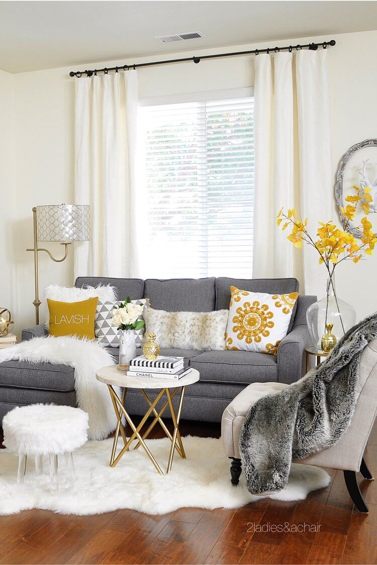 Fluffy White Accents Lighten the Room