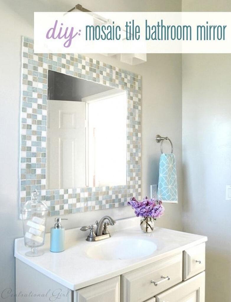 Elegant Square Mirror for the Bathroom