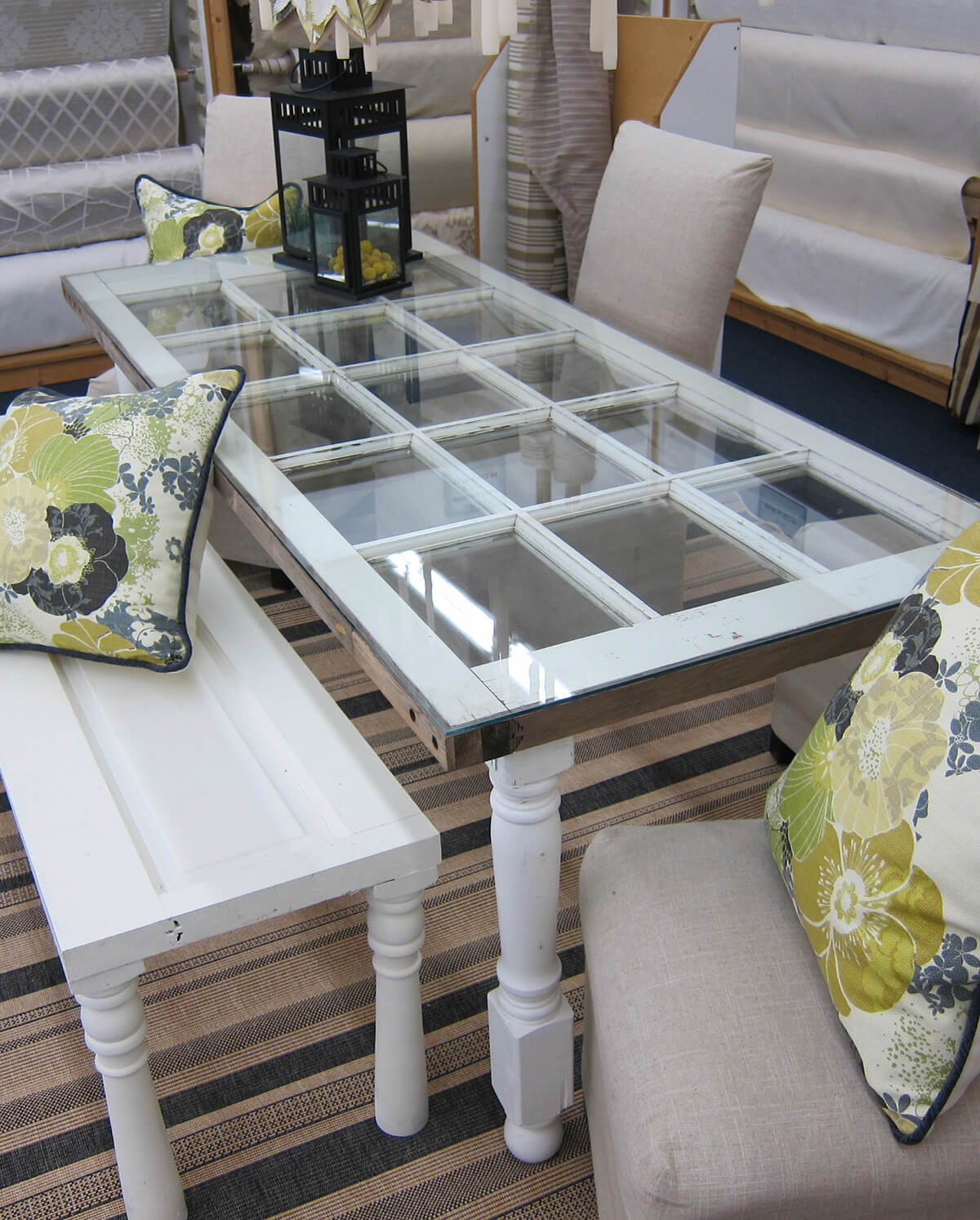 Make an Old French Door Dining Table