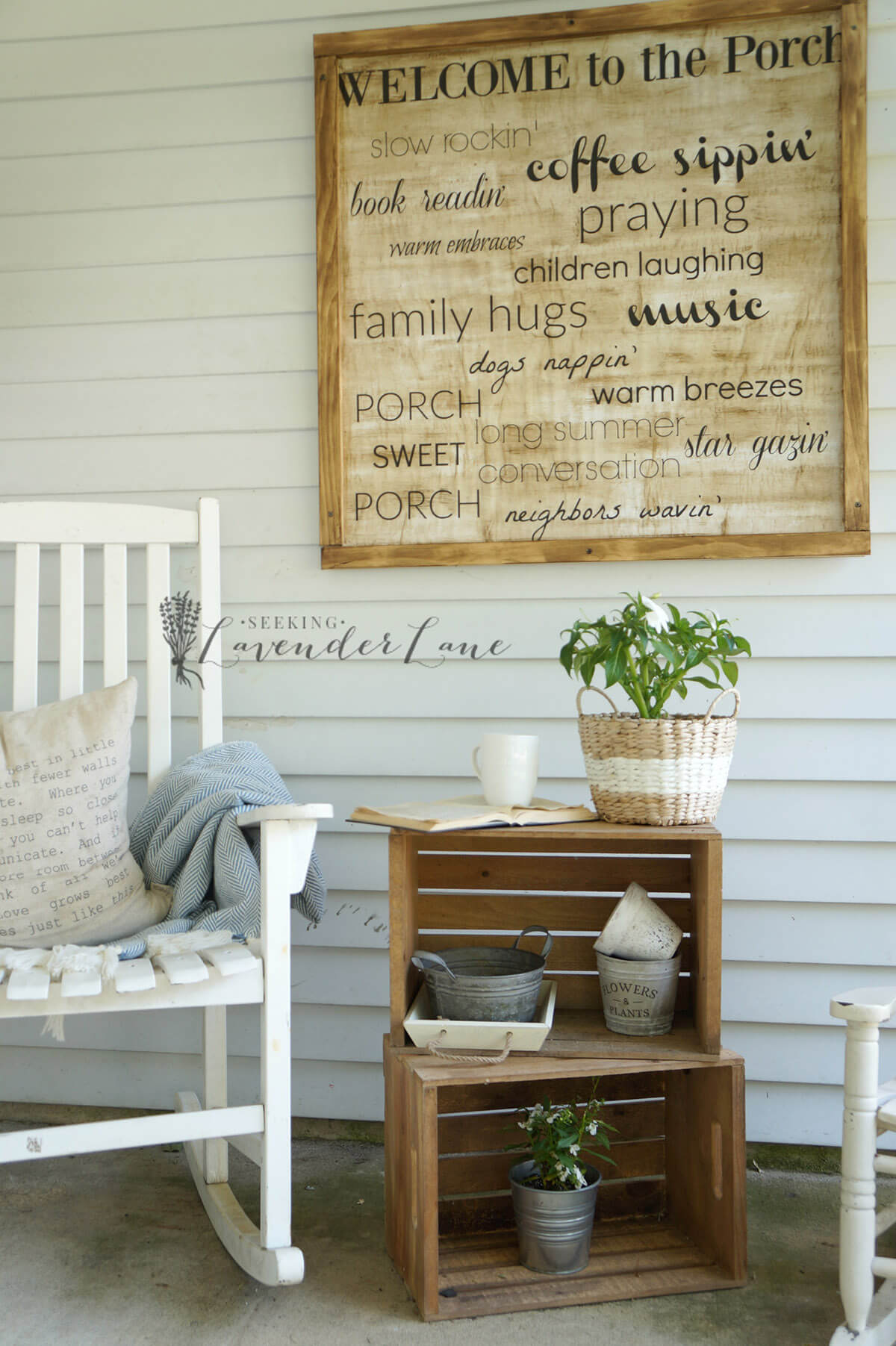 Oversized Wall Art With Printed Sayings