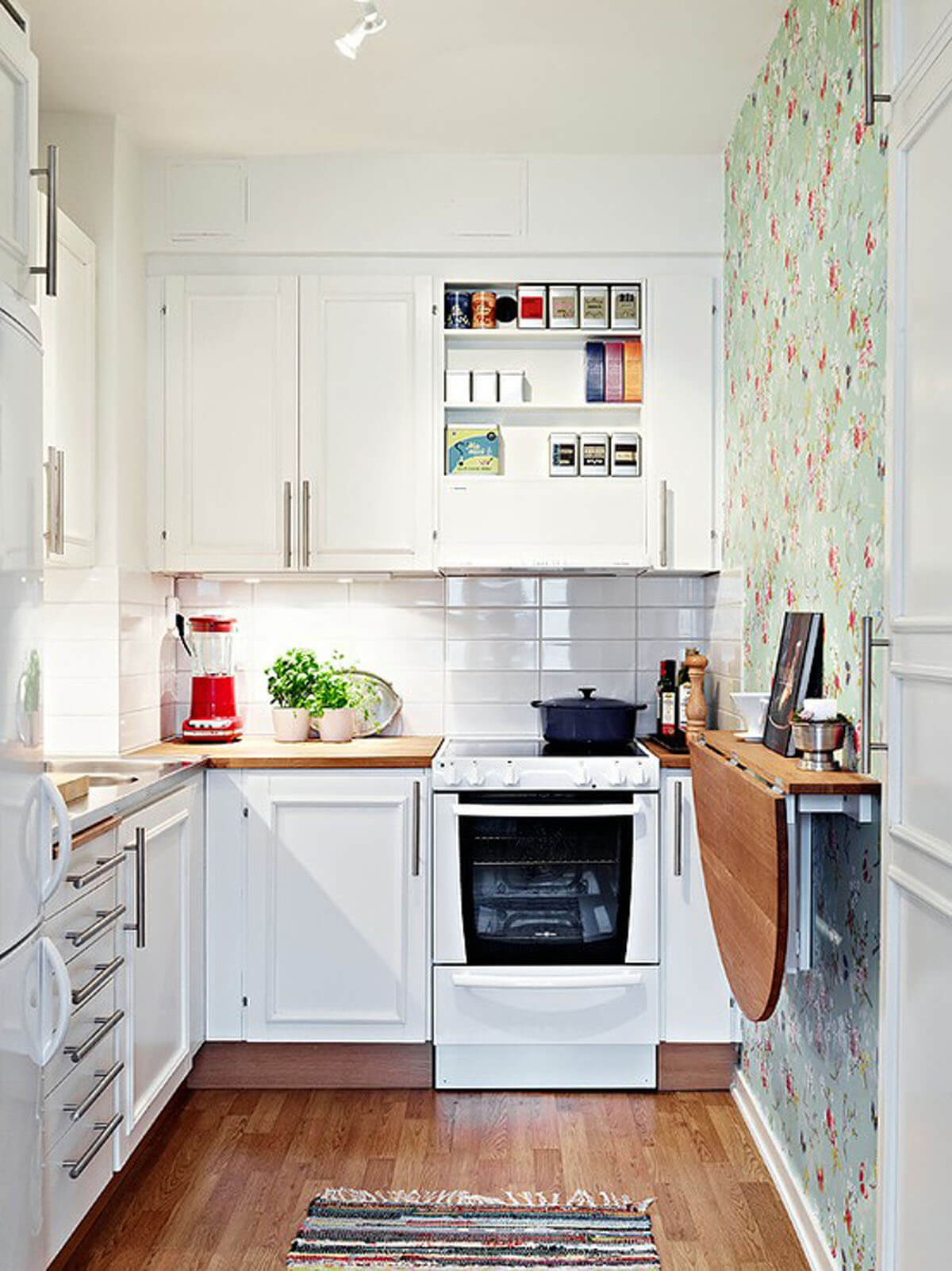 30 Best Small Kitchen Decor and Design Ideas for 2018 Small Kitchen Wallpaper on family room wallpaper, lightning wallpaper, small orange living room, architecture wallpaper, pantry wallpaper, swimming pool wallpaper, living room wallpaper, home wallpaper, design wallpaper, small one wall kitchens, dining room wallpaper, powder room wallpaper, closet wallpaper, small kitchens with open shelves,