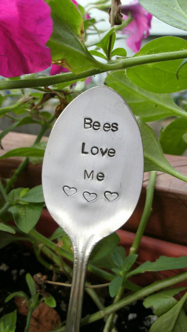Adorable Sign on a Spoon