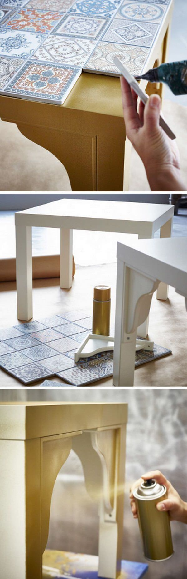 Make a Beautiful Table with Mosaics