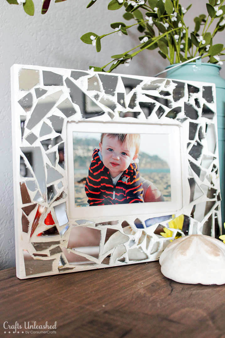 Make a Picture Frame with Mirror Glass