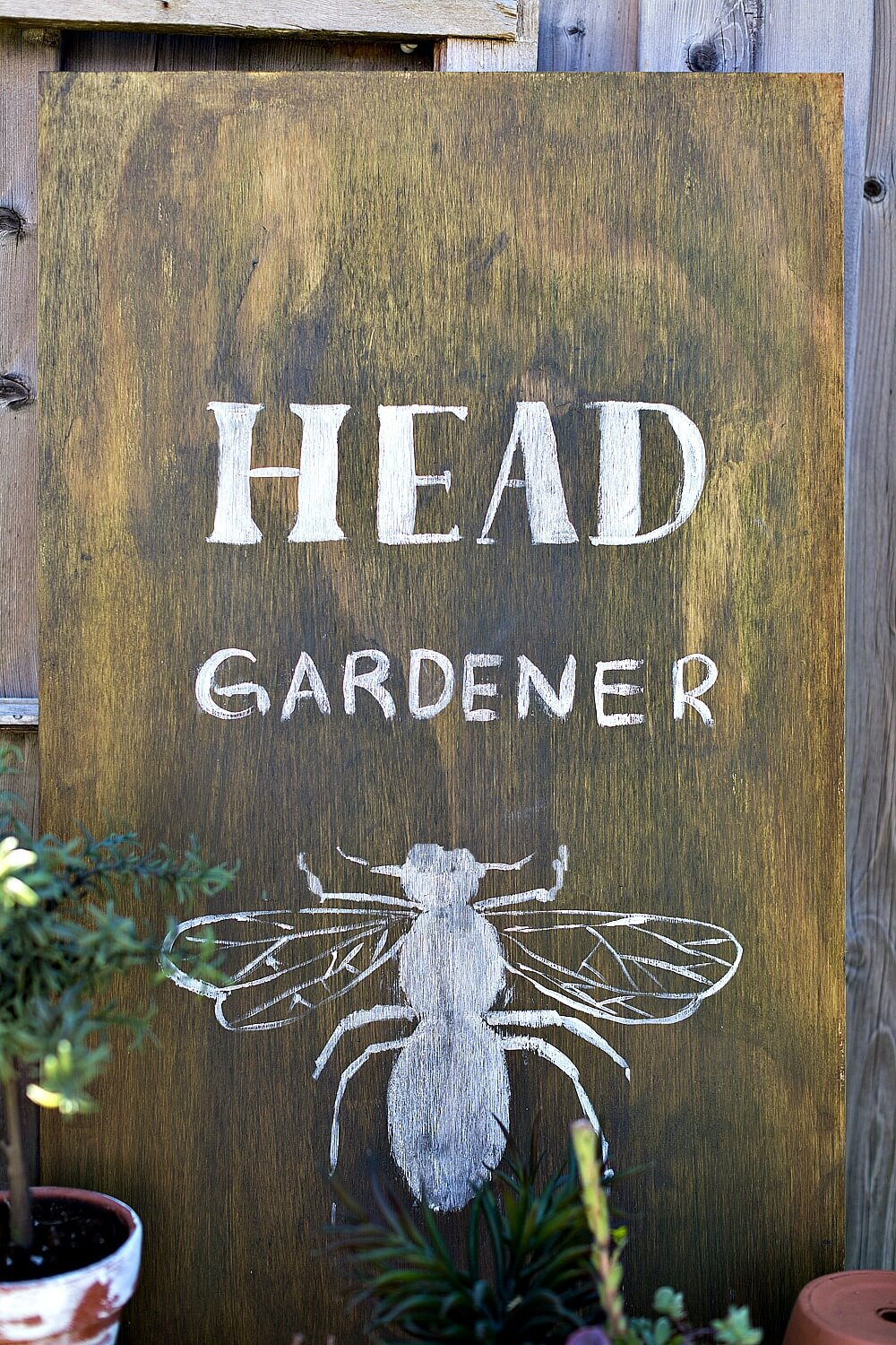 Fun Sign Celebrating the Bees