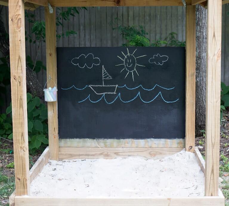 A Weatherproof Outdoor Chalkboard the Kids Will Love