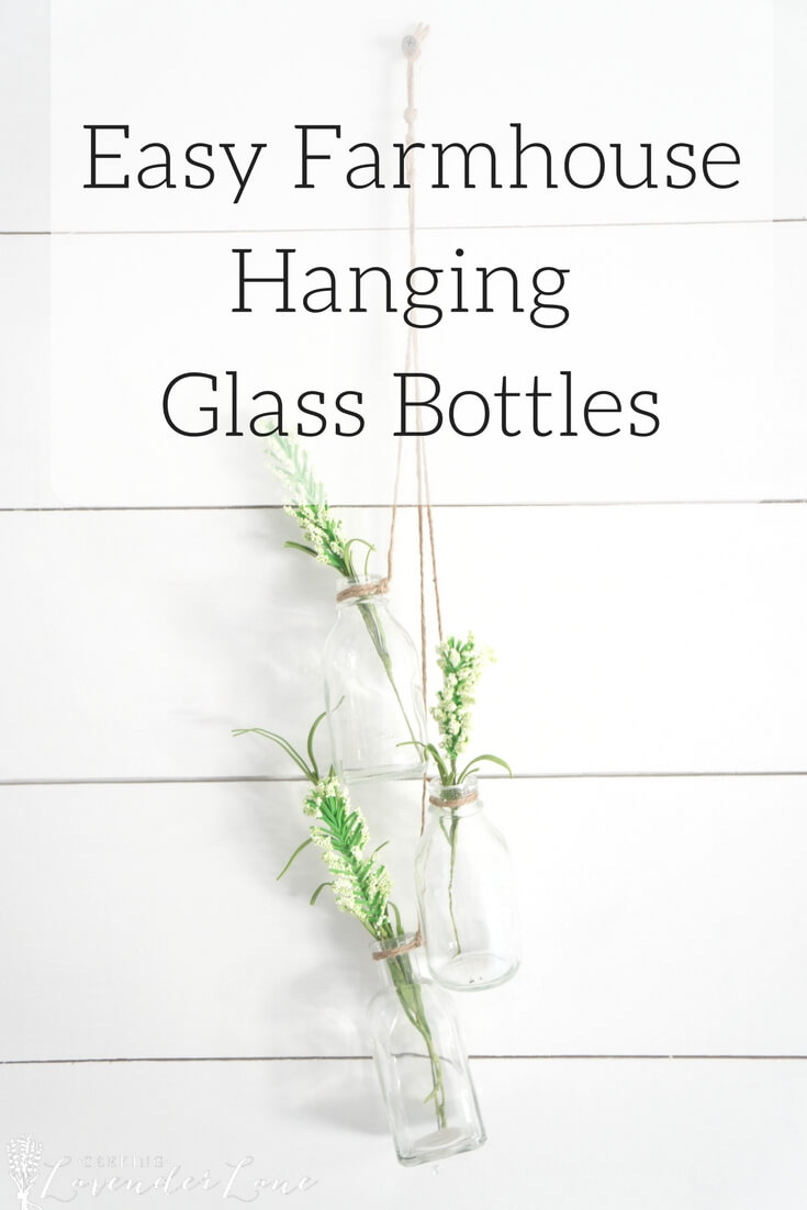 Hang Glass Bottles for Flowers on the Wall