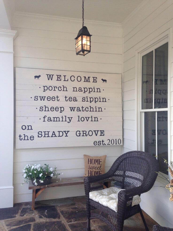 Printed Welcome Sign with Cute Sayings
