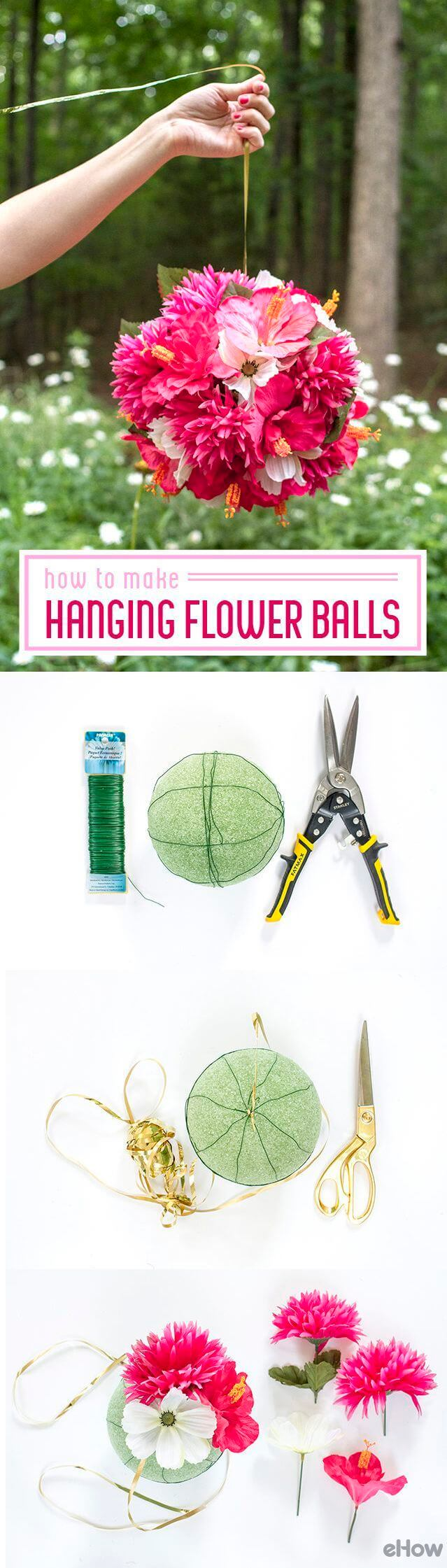 Bright and Bold Hanging Flower Balls